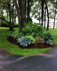 84 gorgeous spring garden curb appeal ideas - HomeSpecially 84 gorgeous spring garden curb appeal ideas - HomeSpecially You are in the right place about fixer upper Curb Appeal He Landscaping Around Trees, Shade Landscaping, Outdoor Landscaping, Front Yard Landscaping, Outdoor Gardens, Curb Appeal Landscaping, Landscaping Ideas, Landscaping Borders, Gardening