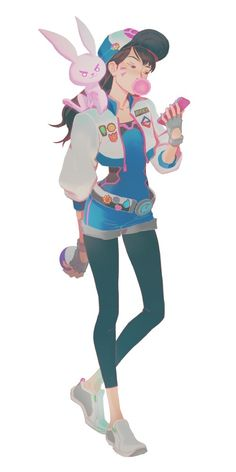 I don't play overwatch, just liked how d.va looked in this