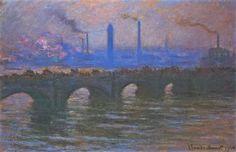 Waterloo Bridge, Overcast Weather - Claude Monet  --  Completion Date: 1904