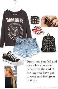 """The Ramones outfit!"" by galilea-andrade ❤ liked on Polyvore"
