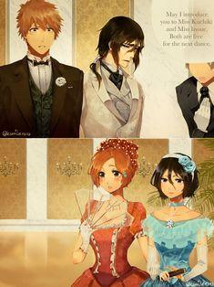 IchiRuki & UlquiHime: Ball part 1 Ulquiorra And Orihime, Bleach Ichigo And Rukia, Bleach Manga, Cute Anime Pics, Cute Anime Couples, Bleach Funny, Bleach Couples, Bleach Fanart, Kawaii Chibi