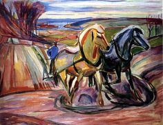 Munch, Edvard (1863-1944) - 1916 Spring Plowing (Munch Museum, Oslo, Norway) by RasMarley, via Flickr