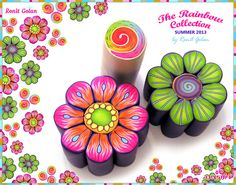 Millefiori Flower Canes - process by Ronit golan, via Flickr