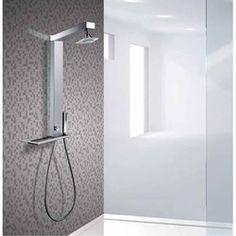 GEMMA Q pannello doccia senza miscelatore, soffione quadro - BagnoItaliano