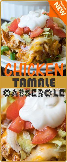 CHICKEN TAMALE CASSEROLE | Think food