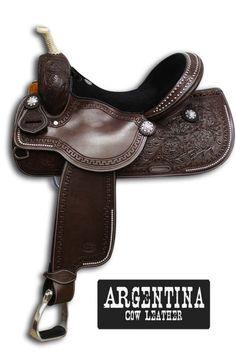 Showman Argentina Leather Round Skirt Saddle