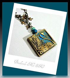 Vintage look Swan Pendant, polymer clay jewelry.via Etsy.