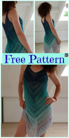 Free Crochet Pattern – The Angles Tunic Crochet Beach Dress Cover – Kostenlose Muster T-shirt Au Crochet, Diy Crochet Bikini, Beau Crochet, Moda Crochet, Crochet Beach Dress, Pull Crochet, Crochet Summer Dresses, Crochet Patron, Crochet Summer Tops