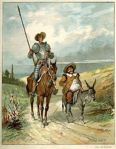 Don Quijote. Sancho Panza.