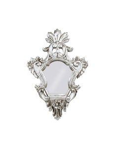Vintage Italian Mirror Ornate Mirror Silver by FlorenceMercato