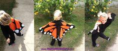 Disfraz de mariposa monarca, My Violet :D myvioletdesigns.com