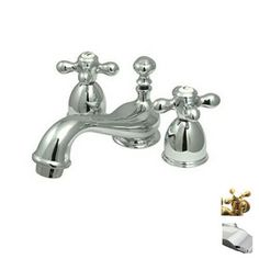 LOWES: Elements of Design�Chicago Chrome 2-Handle 4-in Mini Widespread Bathroom Sink Faucet $129