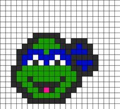 TMNT Leonardo Perler Bead Pattern | Bead Sprites | Characters Fuse Bead Patterns