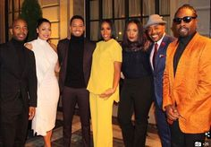From left to right La La Anthony, Terrence J, Kelly Rowland, Will Packer and rapper Wale all posed for a group photo as they prepared to boogie down with the President and First Lady