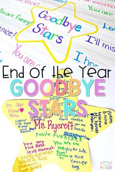 Teachers, are you looking for the perfect student keepsake for the end of the school year? Create something kids will cherish with the end of the year goodbye stars classroom activity! #endoftheyearactivities #endofschool #classroomactivities