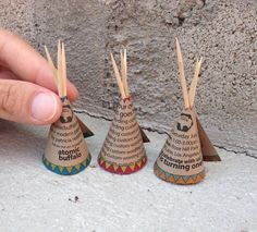 80 Personalized Mini Teepee Cards