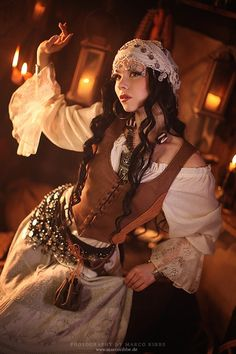 Need to find this but with it showing the belly for Ren Fair. Steampunk Style Gypsy Costume - ☮k☮
