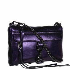 Rebecca Minkoff Mini MAC Clutch in Metallic Navy with Gunmetal Hardware Navy Blue Clutch, Rebecca Minkoff Handbags, Leather Clutch, Leather Handbags, Metallic Leather, I Love Fashion, Fashion Watches, Mac, Purses