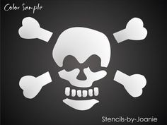 Pirate Stencil Skull Cross Bones Poison Beware Safety | eBay