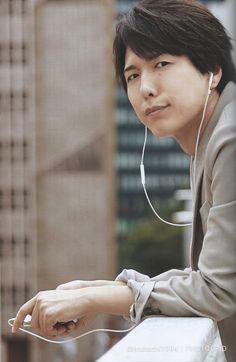 私だよ! — Scanned from my own copy of Seiyuu Men. Hiroshi Kamiya, Voice Actor, All Star, Actors & Actresses, The Voice, Anime, Cute, Holy Family, Manga