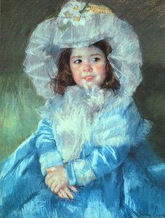 Cassatt Mary Margot in Blue, 1902 - Mary Cassatt - Wikimedia Commons
