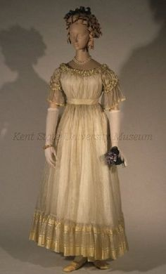 Evening dress, 1820's England, Kent State  These photos look like I took them. lol