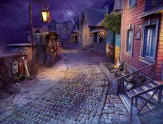 #art #gameart #gamedev #madheadgames #gamedevelopmentart   #passage  #street #pavingstone #road #house