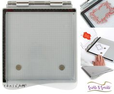 Tonic Studios & Tim Holtz created The Stamp Platform! This platform is perfect for all papers even The base is flat on top & right sides so that your papers won't be bent while stamping. Tim Holtz Stamping Platform, Arts And Crafts, Diy Crafts, Unity Stamps, Stamping Tools, All Paper, Mix Media, Craft Items, Paper Crafting