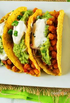 Chickpea Taco (Vegan, Gluten-Free) | Healthier Steps. Replace sour cream with 21-day plain yogurt