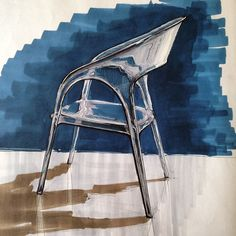 """#sketch #sketching #chair #plastic #interior #design #furniture #copic"""