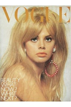 Britt Ekland on the cover of Vogue, June 1966. Photo by David Bailey.