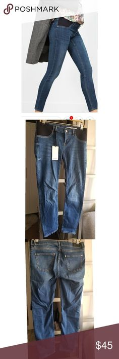b1a15bd35 Zara maternity jeans Zara woman skinny mum fit jean. Elastic side with  zipper an.