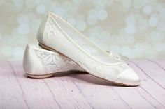 Bridal Shoes Lace Wedding Shoes Lace Wedding Shoes~ Romantic lace always in style. Dyed In Ivory or Pastel Colors Only Crystals or embellishments can be