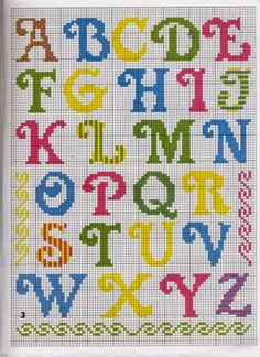 Pin on Cross stitch Crochet Alphabet, Cross Stitch Alphabet Patterns, Cross Stitch Letters, Cross Stitch Borders, Cross Stitch Baby, Cross Stitch Designs, Cross Stitching, Cross Stitch Embroidery, Embroidery Patterns