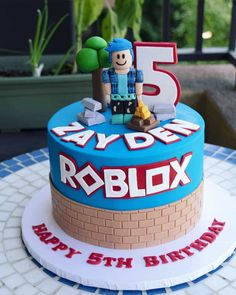 Take a look at these 27 best Roblox cake ideas for birthday parties, boys & girls. See some of the best cake designs around for inspiration. Roblox Birthday Cake, Birthday Cake Kids Boys, Roblox Cake, 8th Birthday Cake, Birthday Cakes For Women, Cakes For Girls, Birthday Cakes For Boys, Birthday Ideas, Birthday Parties
