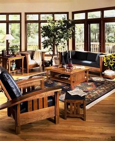 "Misson Furniture from stickley My furniture is all craftsman mission similar, but not ""real"" stickley. Ahh if money was no object, I would seriously be in the stickley antique furniture market!"