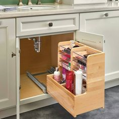 64 useful ideas how to do bathroom cabinet organization 27 – housedecor Bathroom Cabinet Organization, Diy Kitchen Storage, Storage Cabinets, Home Organization, Kitchen Decor, Base Cabinets, Kitchen Ideas, Bathroom Vanity Storage, Sink Organizer