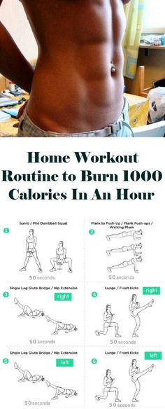 Home Workout Routine to Burn 1000 Calories In An Hour The 1000 calorie HIIT workout is more like a challenge because I'm sure not everyone can finish it… Home Exercise Routines, At Home Workouts, Home Exercises, Fitness Workouts, Cardio Workouts, Workout Schedule, Yoga, Single Leg Glute Bridge, Burn 1000 Calories