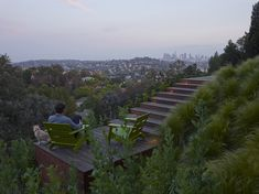 The Satellite Deck -- SURFACEDESIGN, INC. » HOLLYWOOD HILLS RESIDENCE