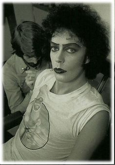 tim curry, you're afraid of him, but not enough to stop the secret obsession ..