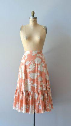 vintage 70s skirt / floral 1970s skirt / Corymbose skirt