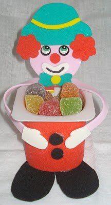 clown iogurt candy holder