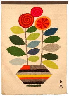 Evelyn Ackerman | Flower Pot | wool | tapestry | Los Angeles, California, U.S.A. | c. 1958–'59
