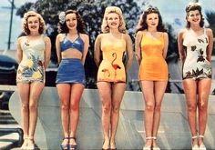 50s fashion swimwear :)