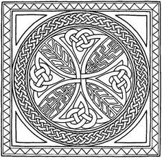Celtic Border Patterns Free | CELTIC CROSS COLORING PAGES « ONLINE COLORING