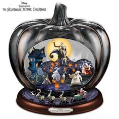 The Bradford Exchange Disney The Nightmare Before Christmas Pumpkin Sculpture: Lights Music and Motion Tim Burton, Christmas Pumpkins, Christmas Love, Xmas, Christmas Bedroom, Disney Christmas, Jack Skellington, Nightmare Before Christmas Snowglobe, Bradford Exchange Disney