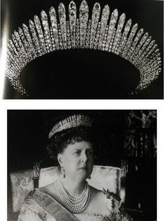 Marie, Duchess of Edinburgh also had a substantial diamond fringe tiara, circa 1880, possibly as gift from her parents, Tsar Alexander II of Russia and Marie of Hesse and By Rhine.