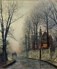 Cave to Canvas, John Atkinson Grimshaw, November Moonlight. Grimshaw is one of my favorite artists and one one of the finest painters of moonlight there has ever been. Atkinson Grimshaw, Art Amour, Art Et Architecture, Photo D Art, Wow Art, Oeuvre D'art, Amazing Art, Art Photography, Scenery