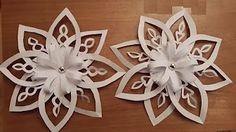 Adorno de Navidad: Copo de nieve de papel. How to make paper snowflakes. - YouTube