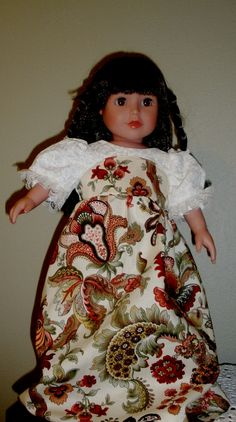 Floral and cream doll dress